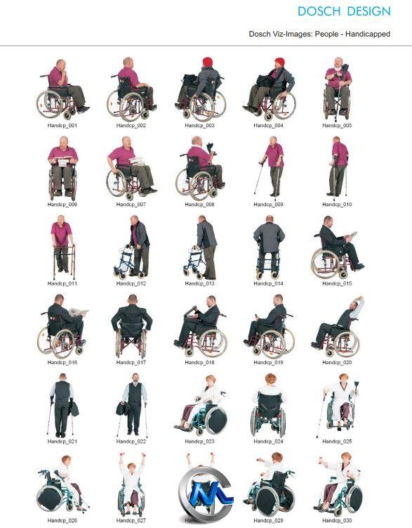 《残疾人实拍图片平面素材合辑》DOSCH 2D Viz-Images: People Handicapped