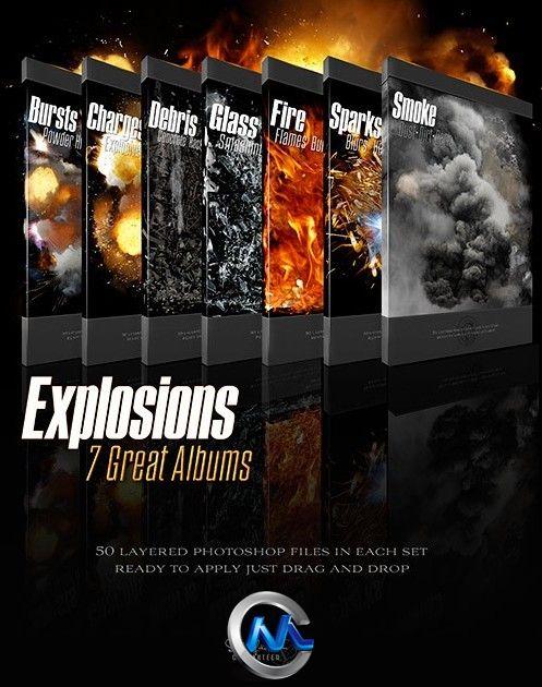 《超炫爆炸效果PSD源文件平面素材》DAZ 3D Rons Explosions