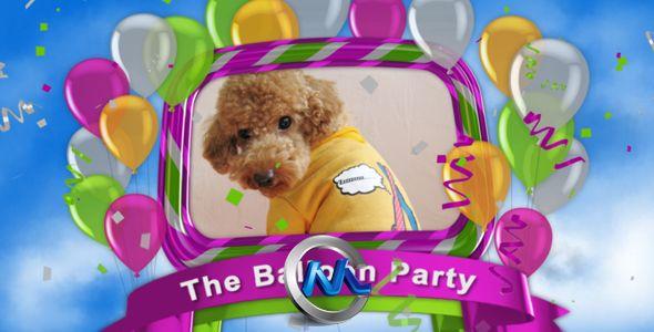 《气球聚会AE模板》VideoHive The Balloon Party 238433
