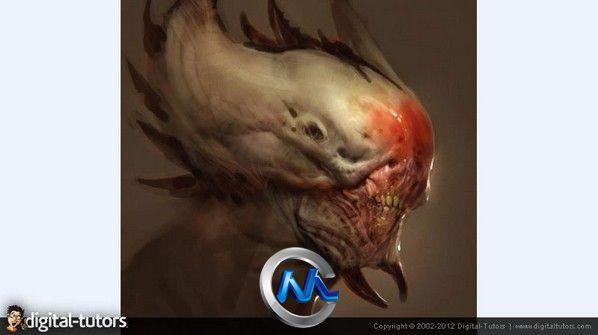 《ZBrush概念生物雕刻艺术视频教程》Digital-Tutors Creative Development Sculpting a Creature Bust in ZBrush