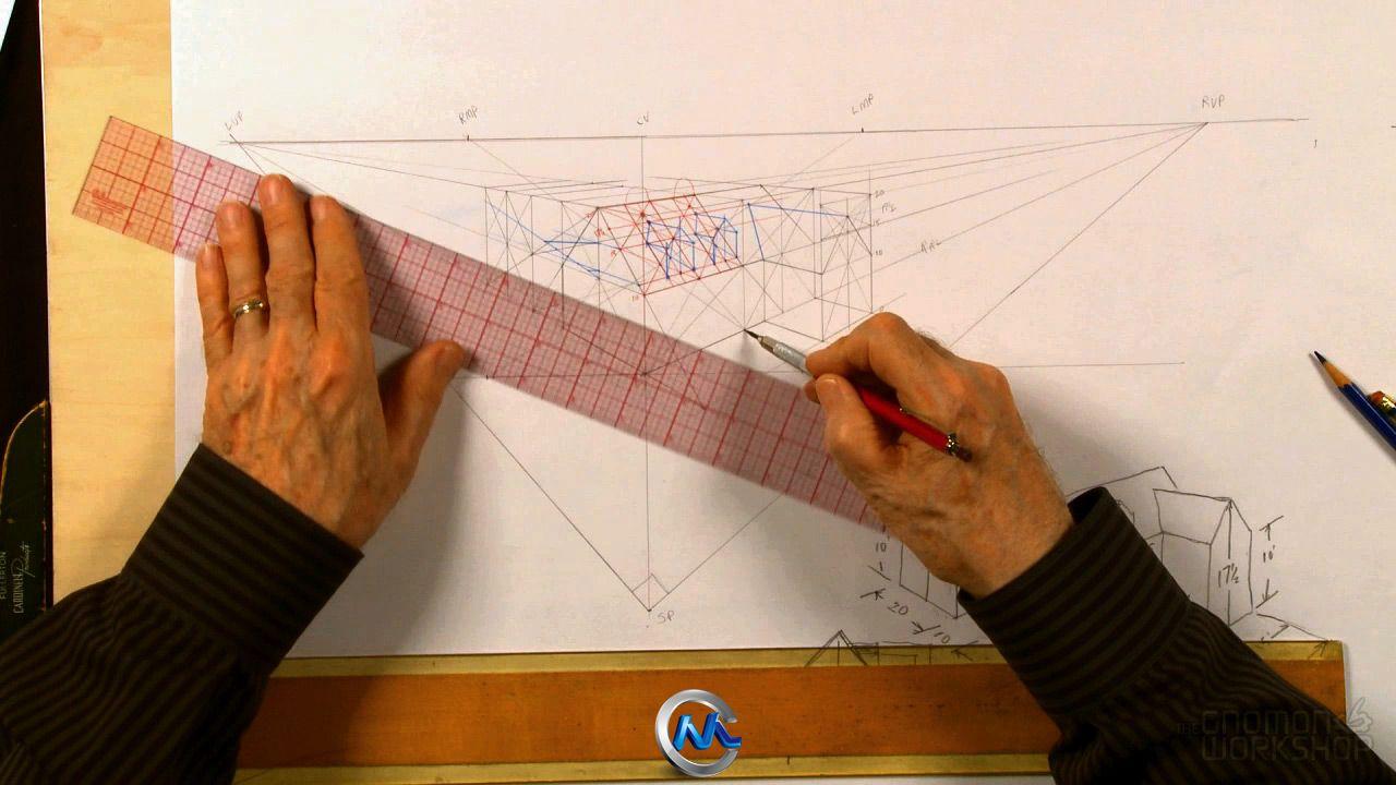 《透视手绘绘画基础视频教程》The Gnomon Workshop Fundamentals of Perspective with Gary Meyer