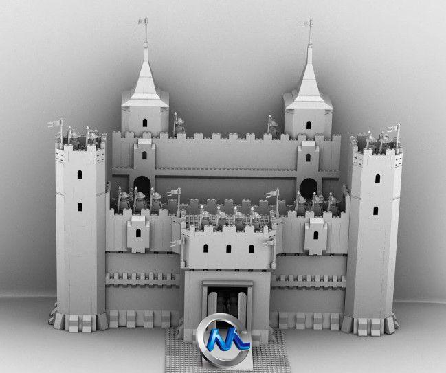 《AE制作仿真3D城堡真实场景视频教程》AETuts+ 3D Castle Scene Sketchbook Projection