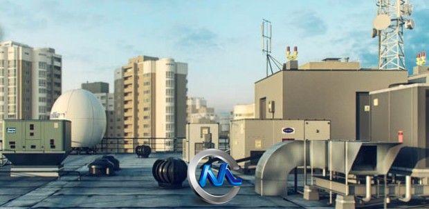 《屋顶通风系统3D模型合辑》R&D Group iRooftop