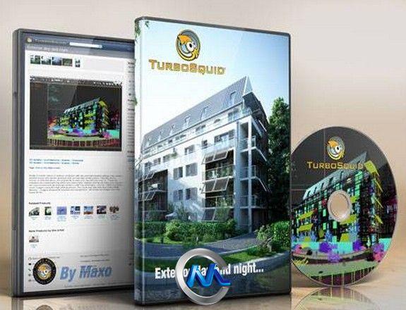 《白天与黑夜室外建筑环境3D模型》Turbosquid Exterior day and night