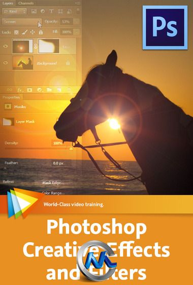 《PS创意特效滤镜视频教程》video2brain Photoshop Creative Effects and Filters English