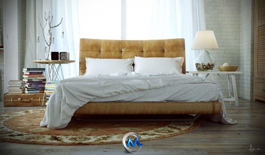 《卧室床场景3D模型与贴图》Ramon Zancaro's The G-Spot of the Bed and Art
