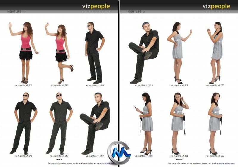 《商业休闲夜生活人物高清图片平面素材合辑》Viz-People People Bundle v1
