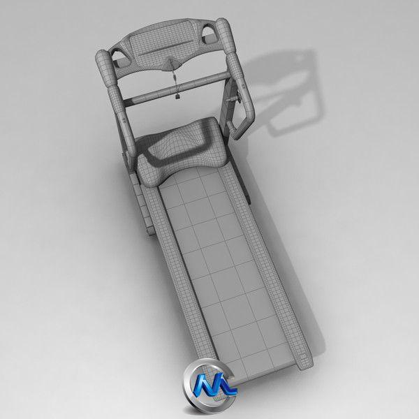 《跑步机3D模型》Turbosquid Treadmill
