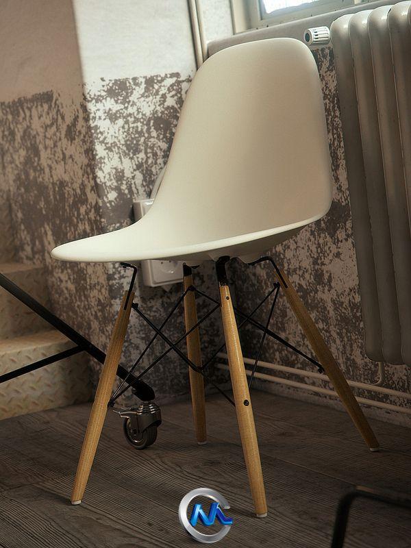 《高雅塑料椅子3D模型》BBB3viz Eames Plastic