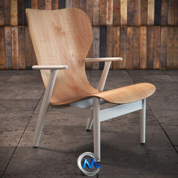 《木质椅子3D模型》BBB3viz Artek Domus Lounge