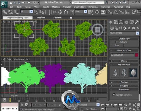 《树木植物插件V2012版》Onyx Tree Storm 2012 For 3Ds Max 2012