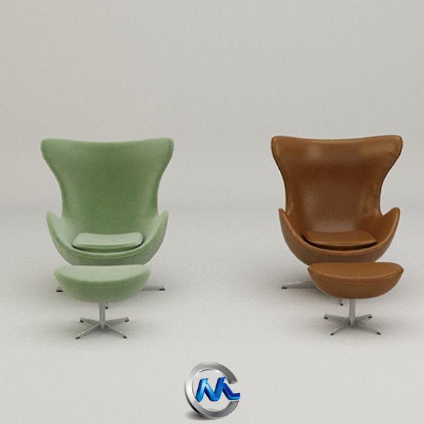 《蛋形椅子3D模型》Turbosquid Egg Chair