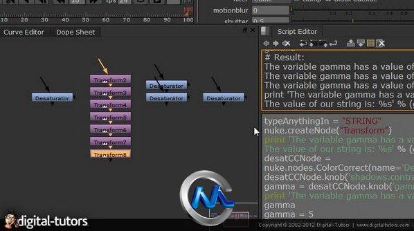《NUKE中Python脚本使用视频教程》Digital-Tutors Introduction to Python Scripting in NUKE
