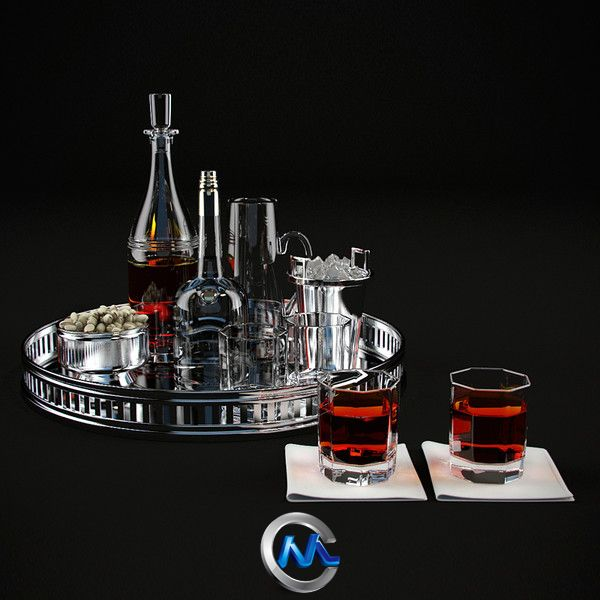 《餐具酒杯3D模型》Turbosquid Tableware ralph loren