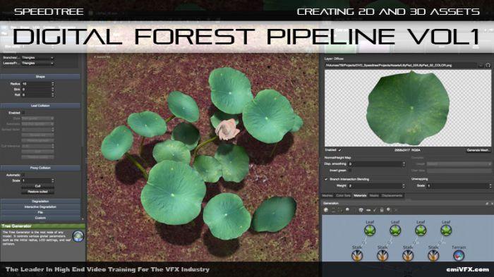 《SpeedTree创建数码森林工具视频教程》cmiVFX Creating Digital Forest Assets Volume 1