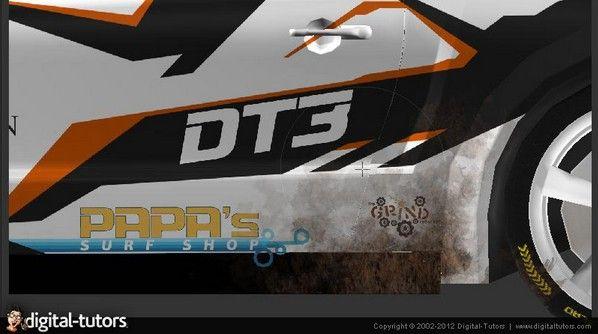 《MARI汽车贴图视频教程》Digital-Tutors Automotive Texturing in MARI