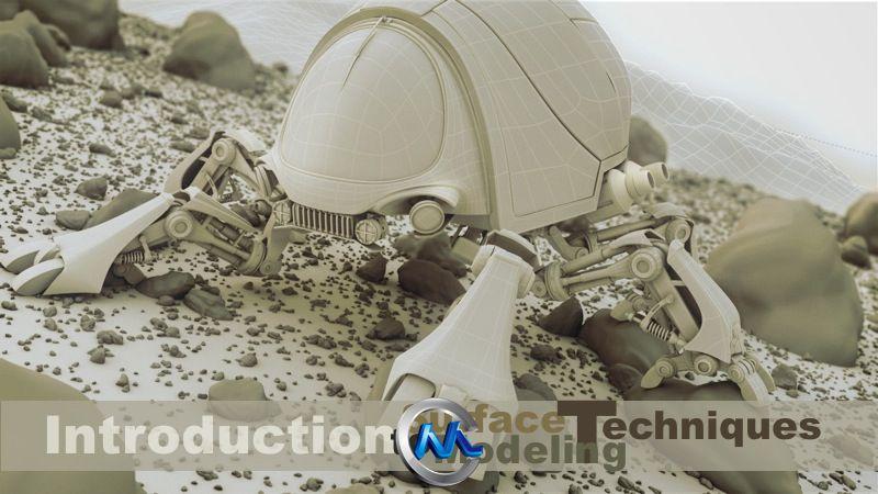 《C4D表面建模技术视频教程》cmiVFX C4D Surface Modeling Techniques
