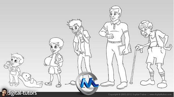 《PS角色年龄设计视频教程》Digital-Tutors Principles for Establishing Character Age