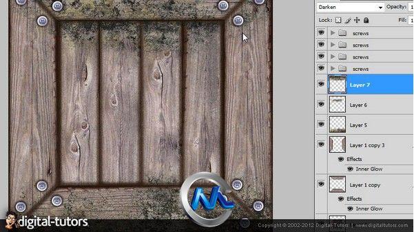 《Photoshop制作木质与金属质感贴图视频教程》Digital-Tutors Creative Development Aging Wood and Metal Textures in Photoshop