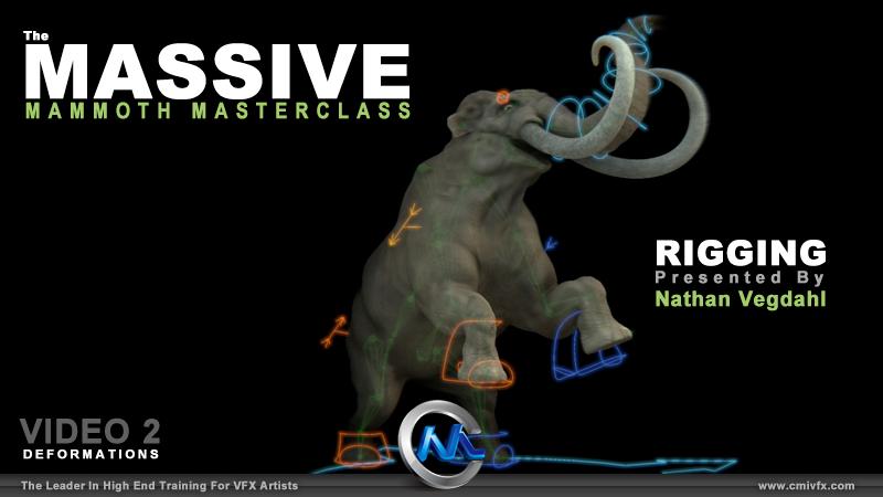 《Blender猛犸象骨骼制作视频教程第二季》cmiVFX Blender Massive Mammoth Masterclass Rigging V2