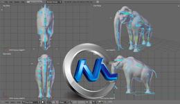 《Blender猛犸象骨骼制作视频教程第一季》cmiVFX Blender Massive Mammoth Masterclass Rigging V1