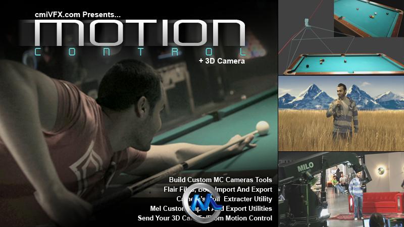 《三维摄像机运动控制技术视频教程》cmiVFX Motion Control 3D Camera