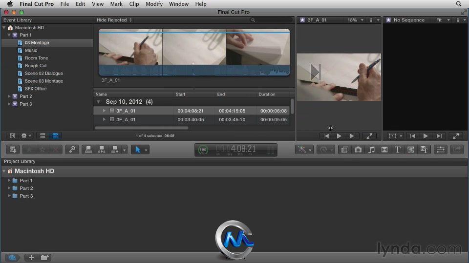 《FinalCutProX剪辑教程叙事教程节奏技巧》lgf100100l汉化视频图片