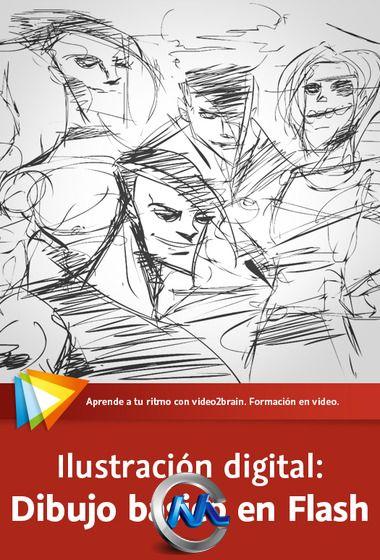 《Flash数码绘图视频教程》video2brain Digital Illustration Drawing with Flash Spanish