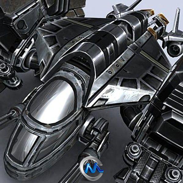 《科幻运输机3D模型》Turbosquid Sci-Fi Dropships collection