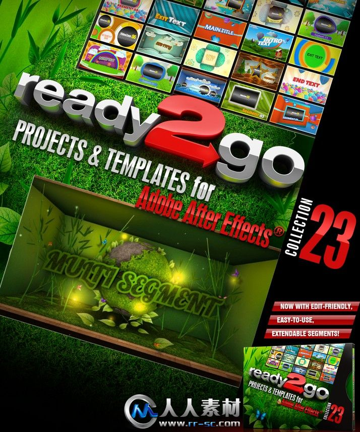 《DJ最强AE模板合辑Vol.23》Digital Juice Ready2Go Collection 23 for After Effects