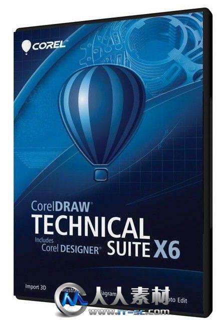 《技术图形设计套件V16.3版》CorelDRAW Technical Suite X6 v16.3.0.1114 x32/x64