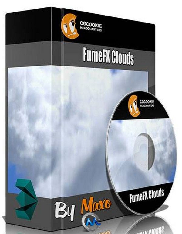 3dsmax中FumeFX云朵制作视频教程 CGCookie FumeFX Clouds in 3ds Max