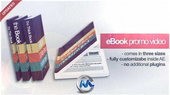 电子书籍营销展示AE模板 VideoHive eBook Promo Project Marketing Video 89389 Project for After Effects