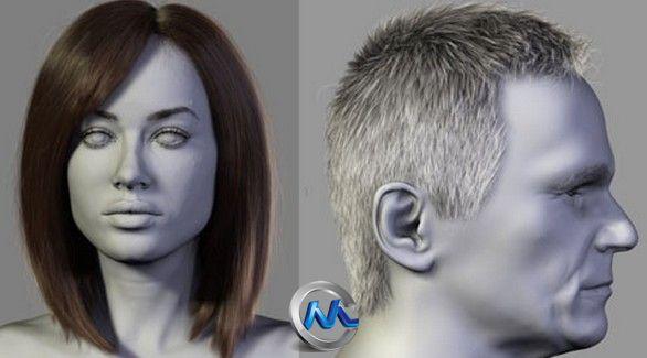 3dsMax真实头发制作视频教程 Zbrushworkshops Photo-Realistic Hair with Dani Garcia