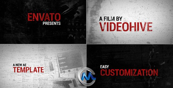 神秘节奏片头包装AE模板 Videohive Evidence 6669830 Project for After Effects