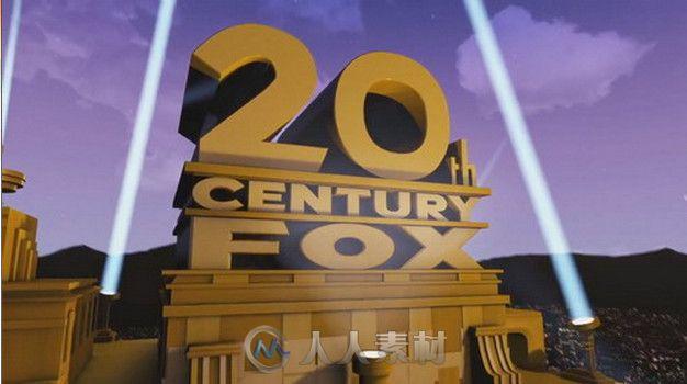 20世纪福克斯公司经典电影片头动画ae模板