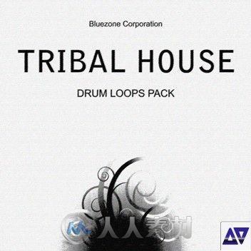 循环节奏电子乐合辑 Bluezone Corporation Tribal House Drum Loops AiFF WAV