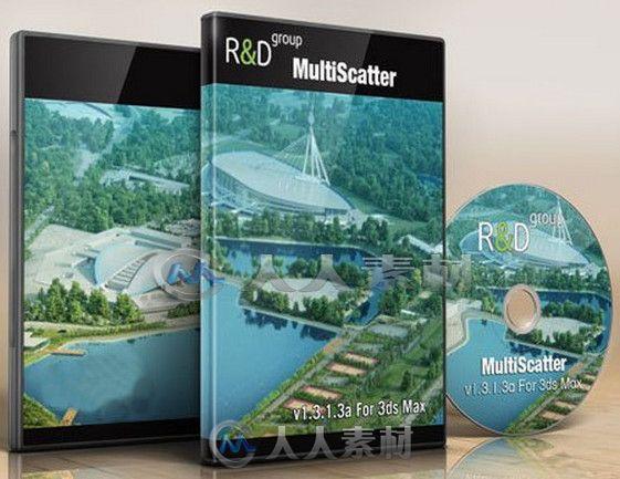 MultiScatter 大型场景渲染3dsmax插件V1.3.1.3a版 MultiScatter 1.3.1.3a for V-ray 3.0 3ds Max 2013-2014 Win64
