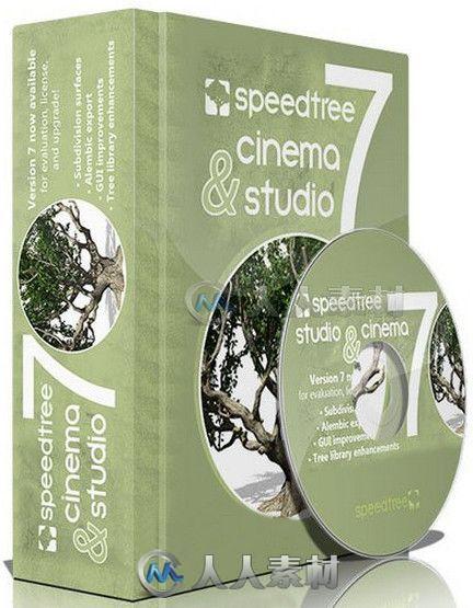 SpeedTree Cinema树木植物实时建模软件V7.0.7版 SpeedTree Cinema v7.07 Win Mac Linux XFORCE