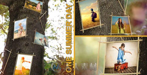 美妙的夏天相册动画AE模板 Videohive One Summer Day 8061281 Project for After Effects