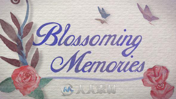 唯美水彩婚礼相册动画AE模板 Videohive Flourish Memories Wedding Intro 7491626 Project for After Effects
