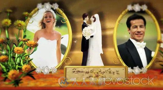完美折页婚礼相册AE模板 RevoStock Wedding Memories Popping Album Project for After Effects