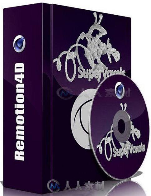 Remotion4D SuperVoxels像素生成器C4D插件V131125版 Remotion4D SuperVoxels 131125 for Cinema4D Win64