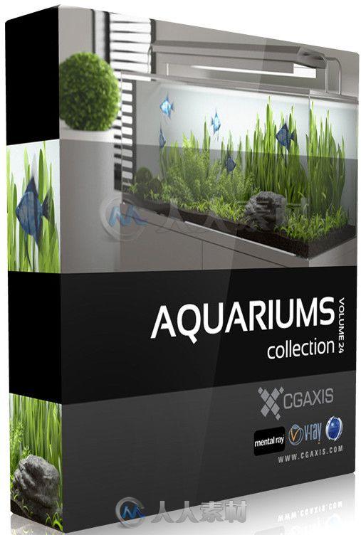 水族馆鱼缸3D模型合辑 CGAxis Models Volume 24 Aquariums