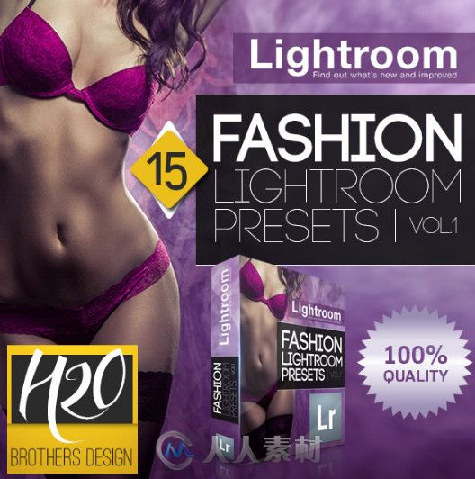 专业时尚调色预设LRTemplate模板 Graphicriver fashion lightroom presets vol 1 8981125