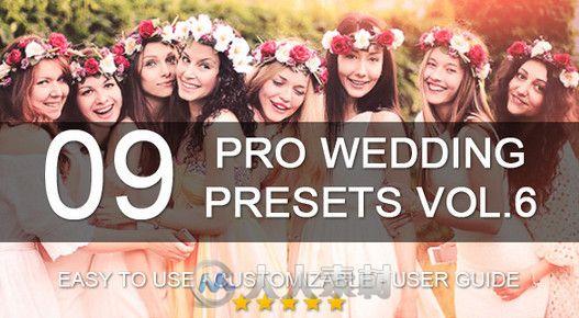 专业婚礼调色预设LRTemplate模板 Graphicriver 9 Pro Wedding Presets vol.6 8284354