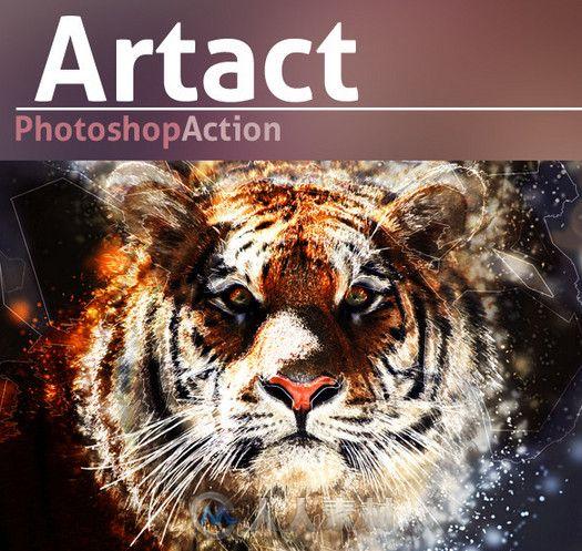超酷炫色调色特效PS动作 Graphicriver Artact Photoshop Action 9128376