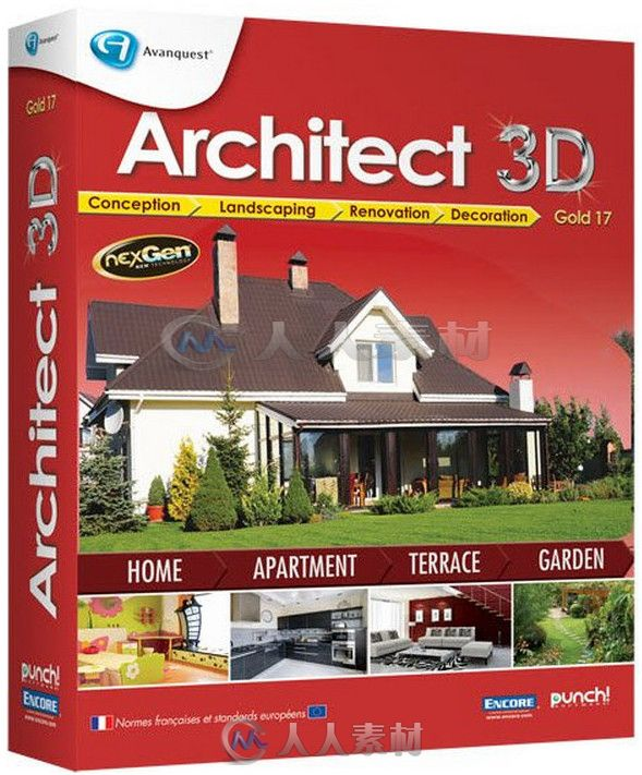 Architect3D家居装潢设计软件V17.6.0.1004版 Avanquest Architect 3D Gold v17.6.0.1004 Win
