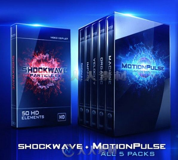 VC超级冲击影音包装合辑 Video Copilot Motion Pulse + Shockwave HD