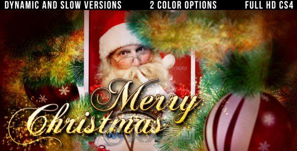 温馨圣诞家庭相册动画AE模板 Videohive christmas slideshow 3509654